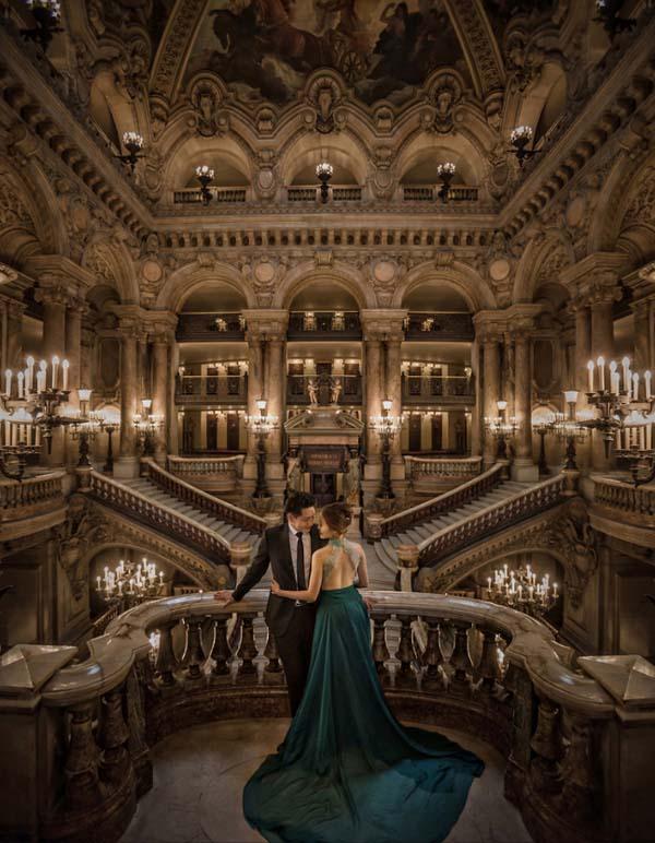 Ảnh cưới đẹp trong lâu đài