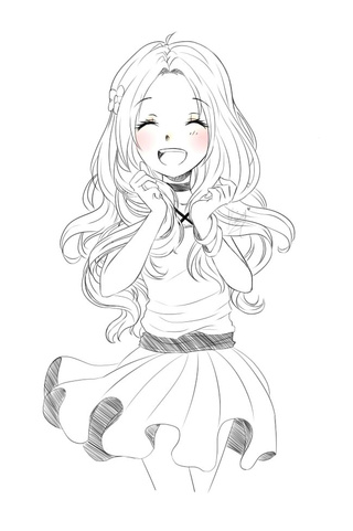 Ảnh vẽ anime girl đẹp