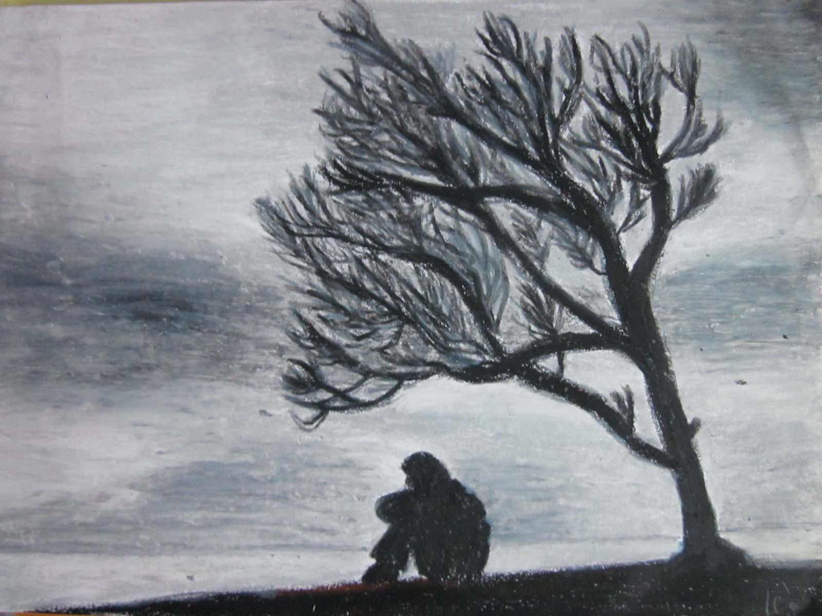 Ảnh vẽ buồn