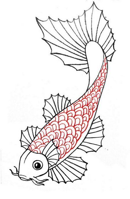 Ảnh vẽ cá chép đẹp