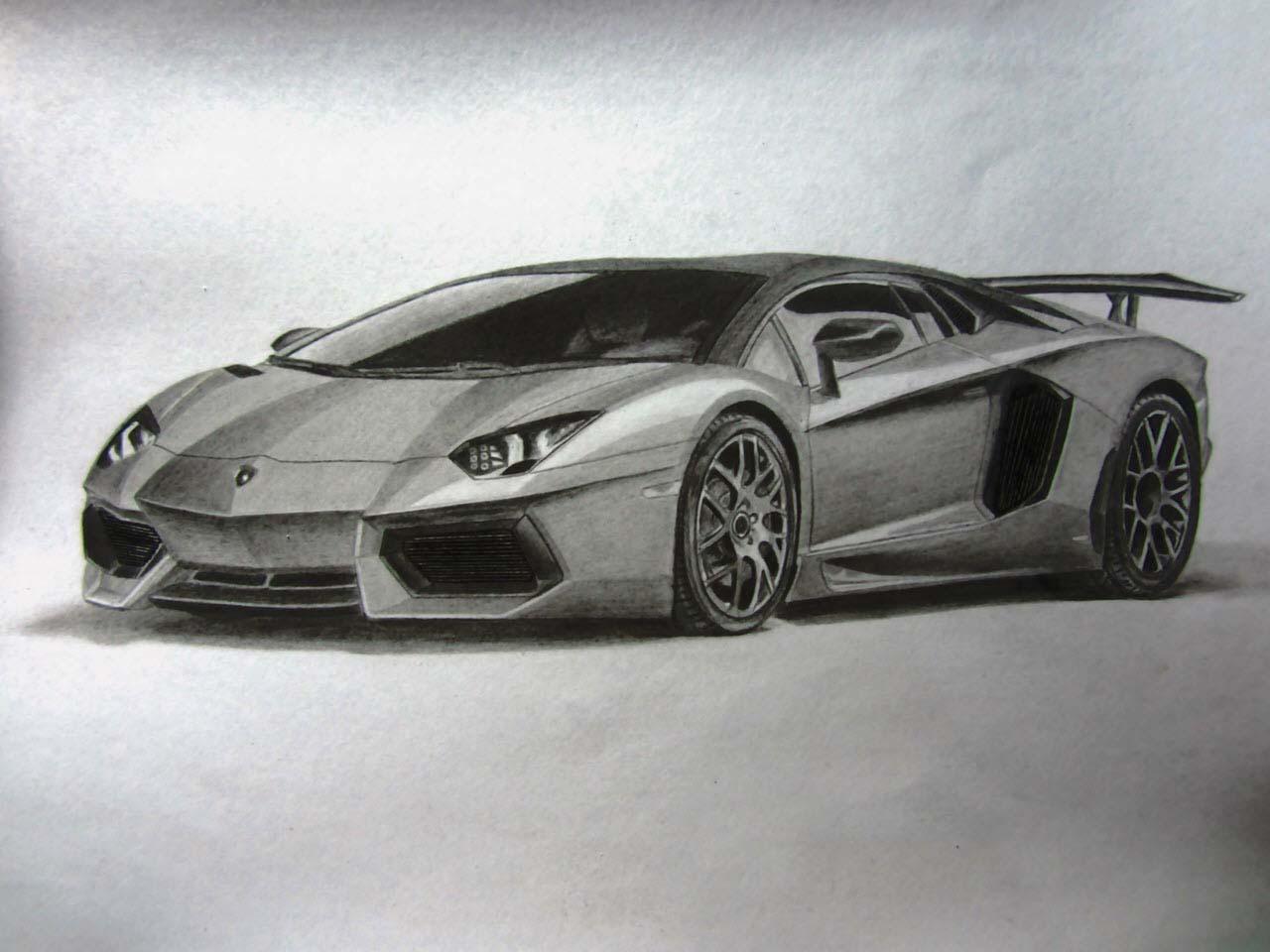Ảnh vẽ ô tô đẹp
