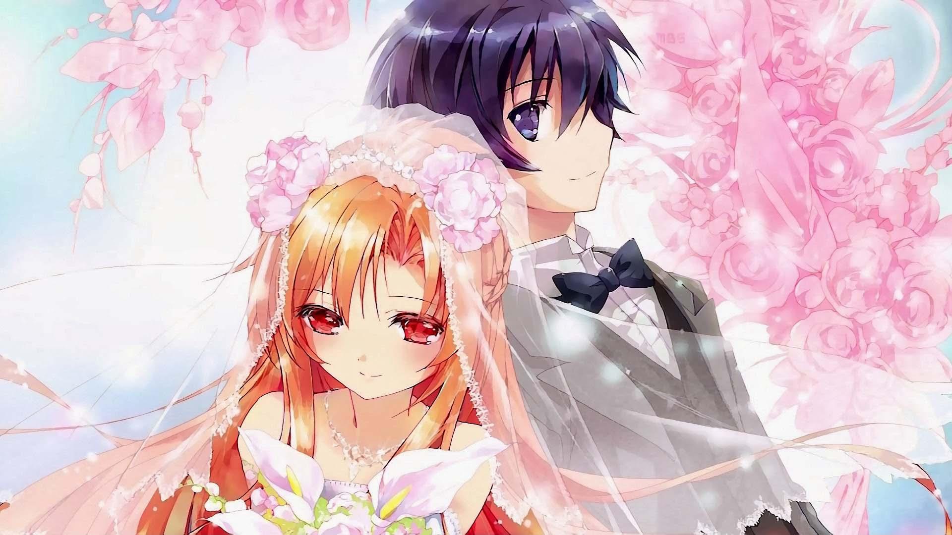 Hình ảnh cưới anime đẹp