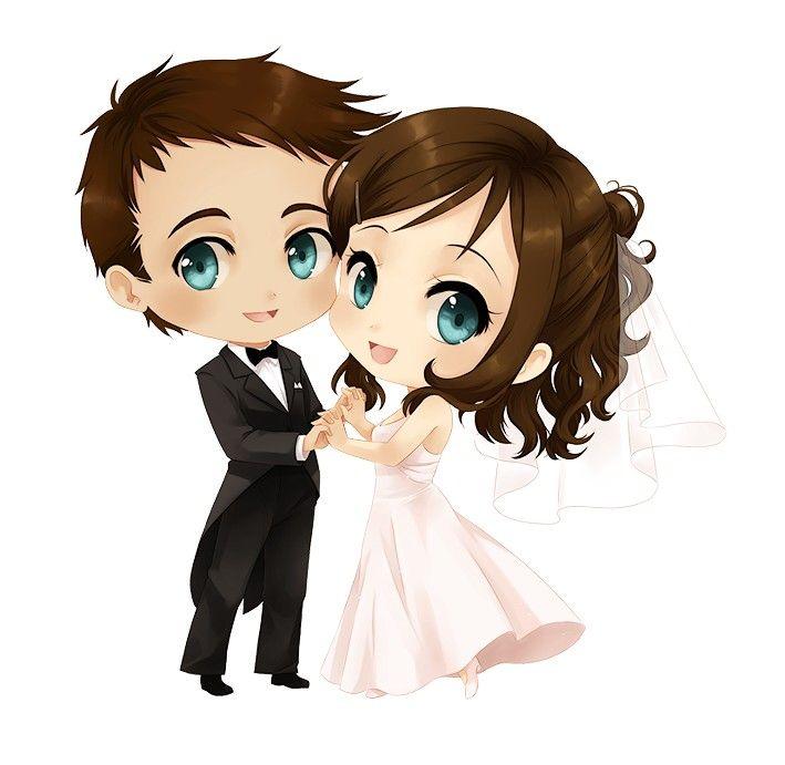 Hình ảnh cưới chibi đẹp
