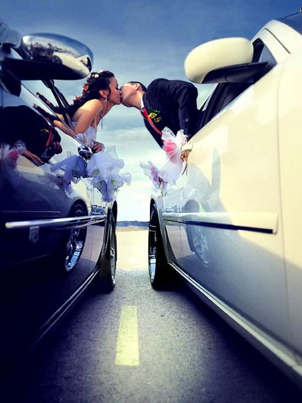 Hình ảnh cưới độc đáo trên đường