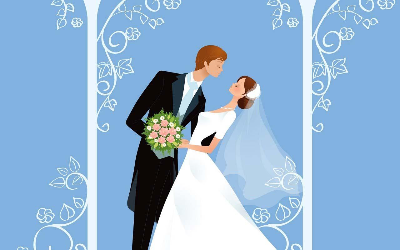 Hình ảnh cưới vẽ đẹp
