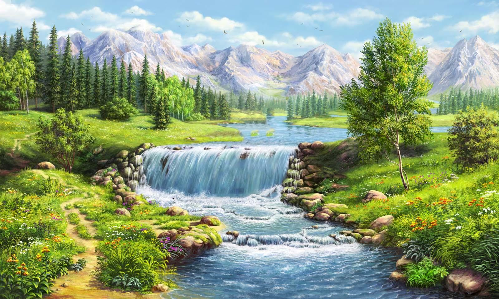 Hình ảnh tranh phong cảnh đẹp