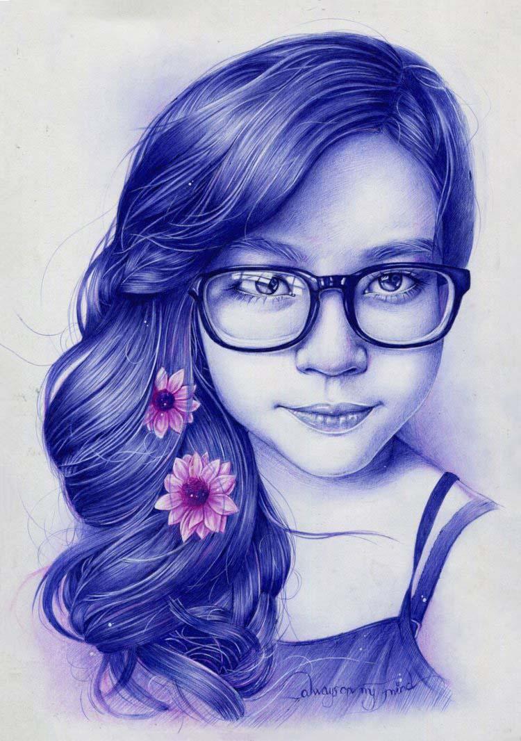 Hình ảnh vẽ bút bi đẹp
