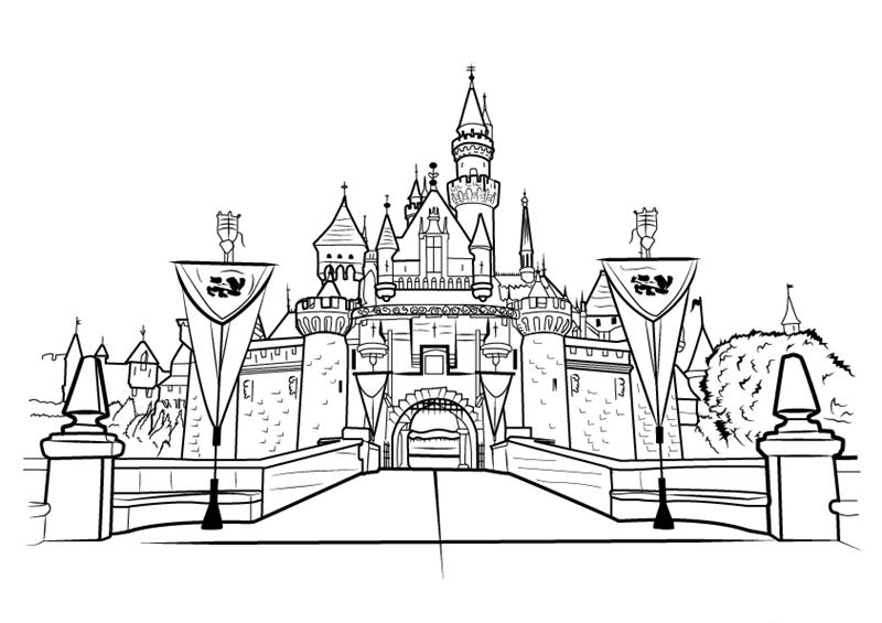 Hình ảnh vẽ lâu đài đẹp