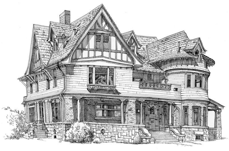 Hình ảnh vẽ ngôi nhà đẹp nhất