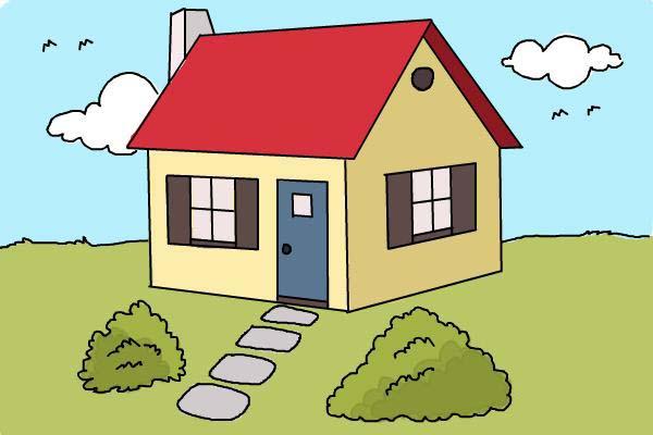 Hình ảnh vẽ ngôi nhà đẹp