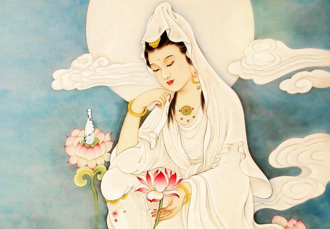 Hình ảnh vẽ Phật Quan Âm đẹp