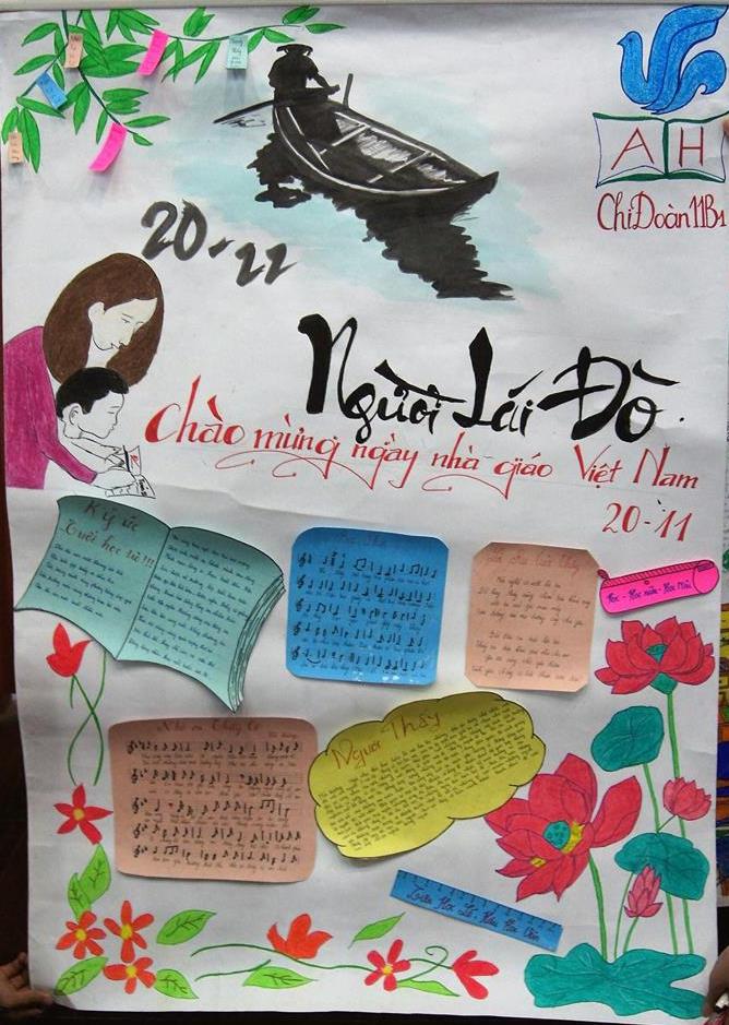 Báo tường mừng ngày nhà giáo Việt Nam đẹp