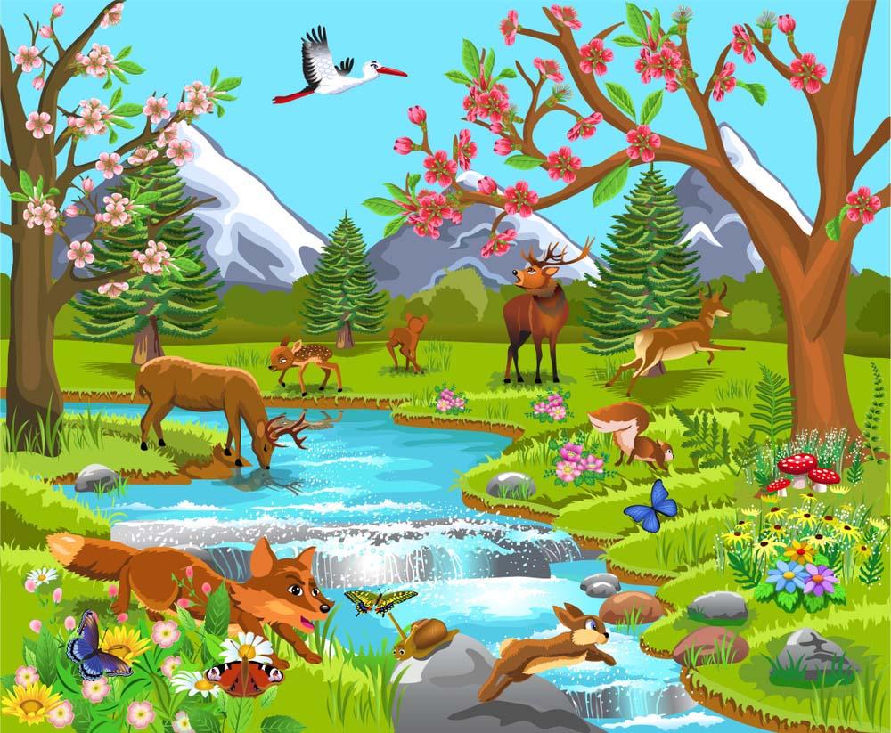 Hình ảnh đẹp cánh rừng hoạt hình
