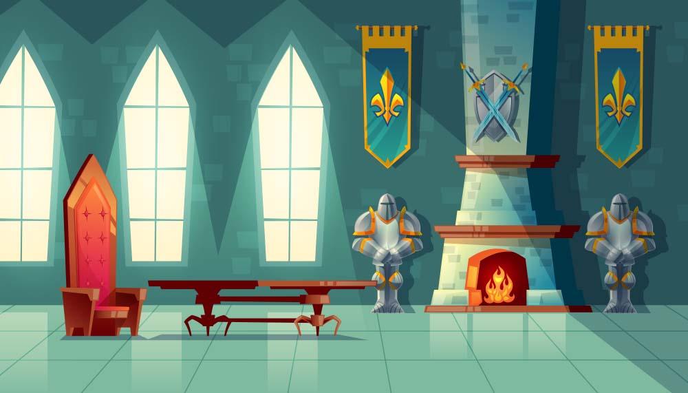 Hình ảnh lâu đài hoạt hình đẹp