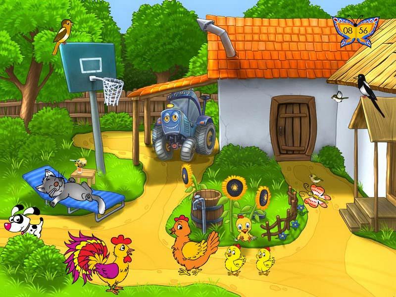 Hình ảnh ngôi làng hoạt hình đẹp