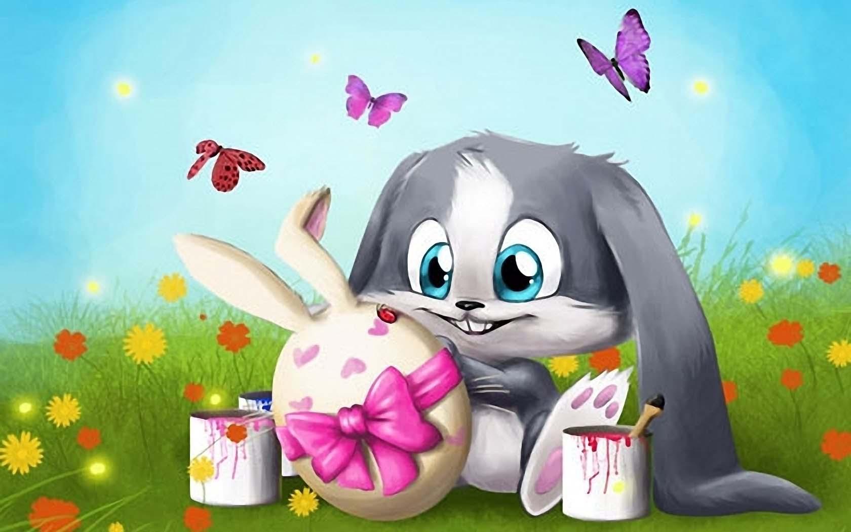 Hình ảnh vẽ thỏ hoạt hình đẹp