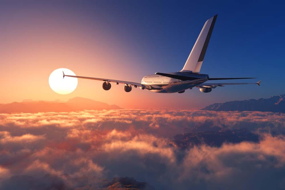 Ảnh đẹp máy bay cuối chiều