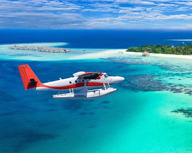 Ảnh máy bay đẹp trên đảo