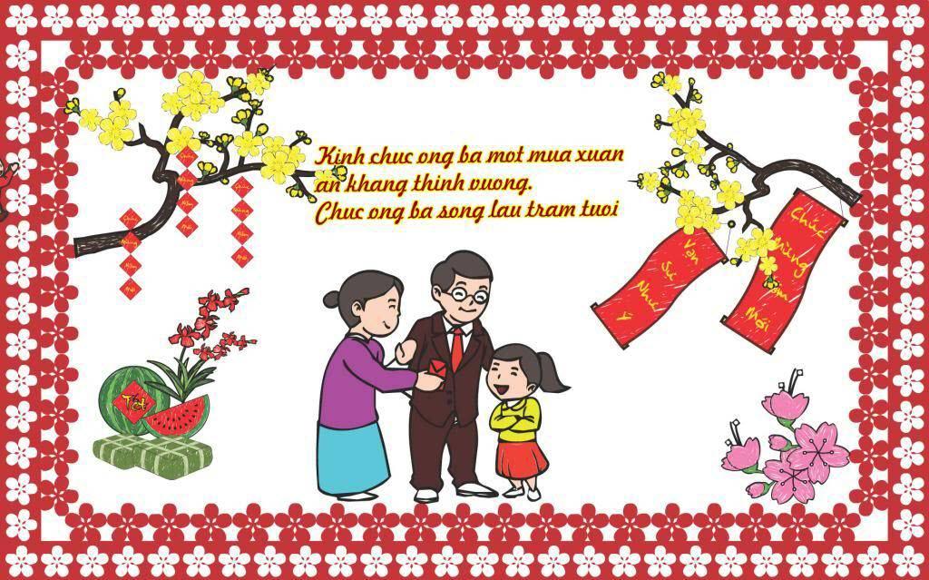 Thiệp chúc tết gia đình đẹp