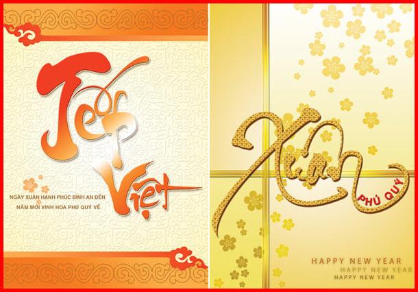 Thiệp chúc tết Việt