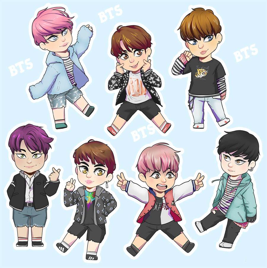 Ảnh hoạt hình BTS đẹp nhất