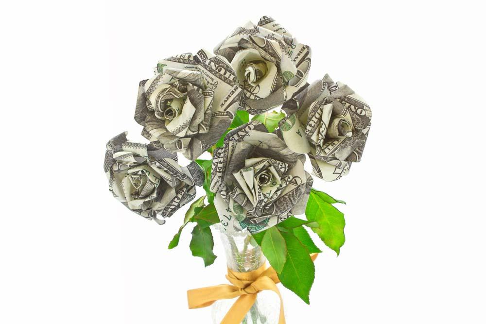 Ảnh tiền và hoa
