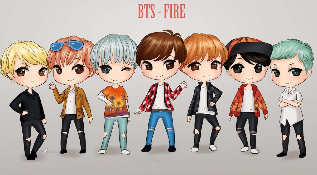 Hình ảnh BTS nghệ thuật