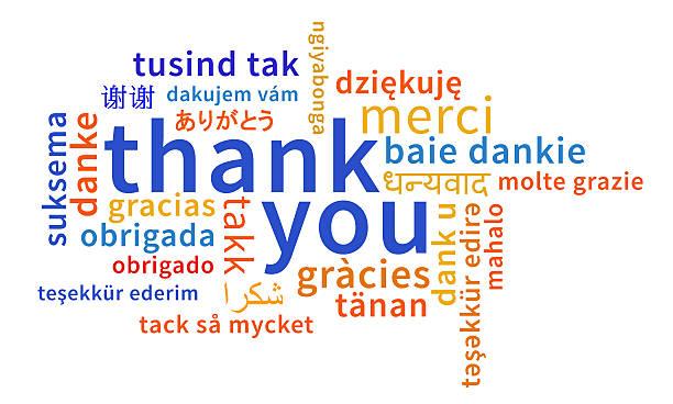 Hình ảnh cảm ơn bằng nhiều thứ tiếng