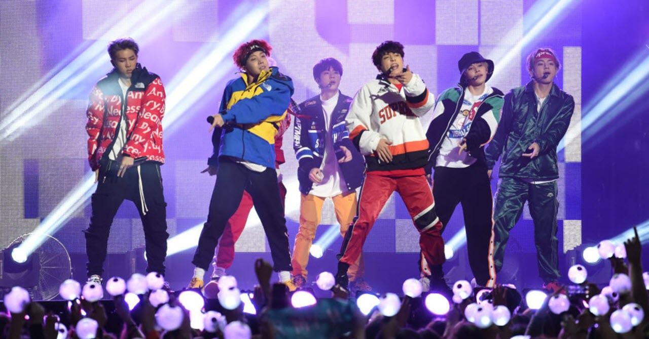 Hình ảnh đẹp BTS trên sân khấu