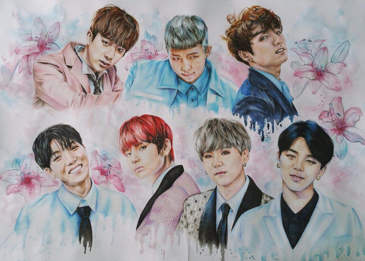 Hình ảnh vẽ BTS đẹp nhất