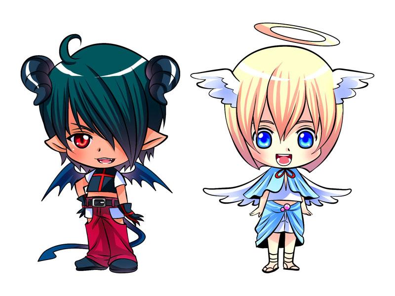 Ảnh đôi anime chibi đẹp nhất
