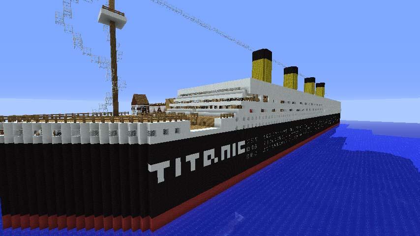 Ảnh tàu titanic minecraft đẹp nhất