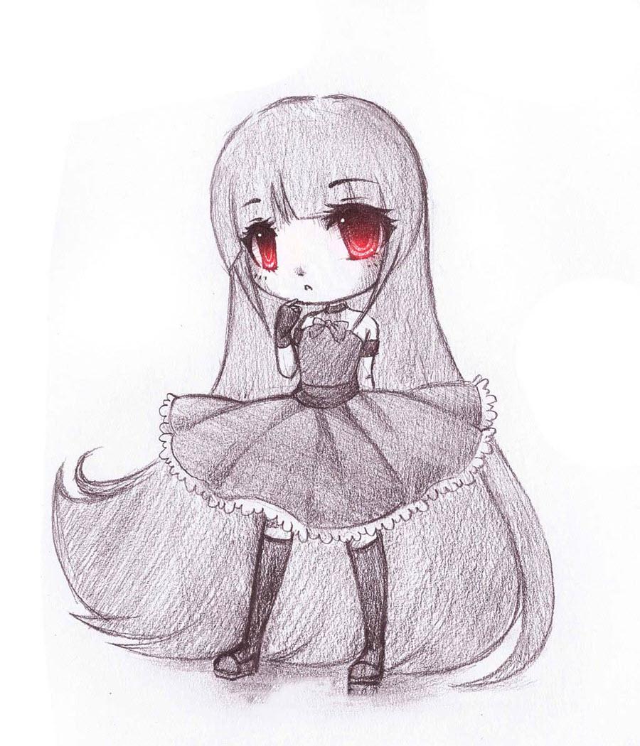 Hình ảnh anime chibi dễ vẽ