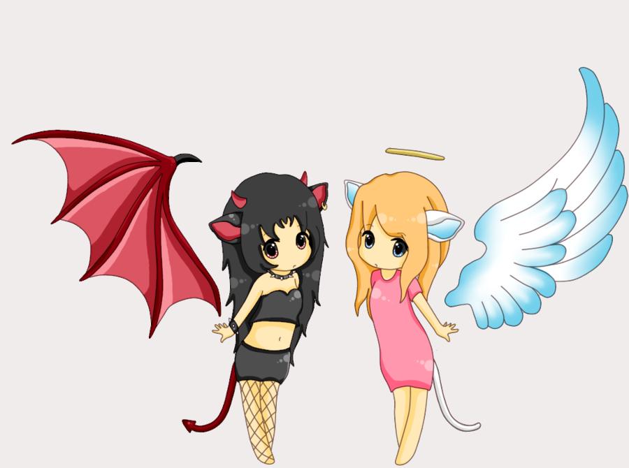 Hình ảnh anime chibi thiên thần