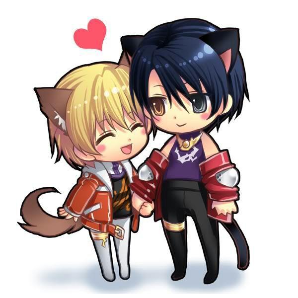 Hình ảnh anime chibi tình yêu