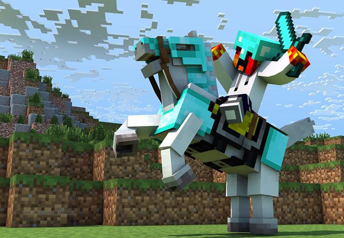 Hình ảnh chiến binh trong game Minecraft