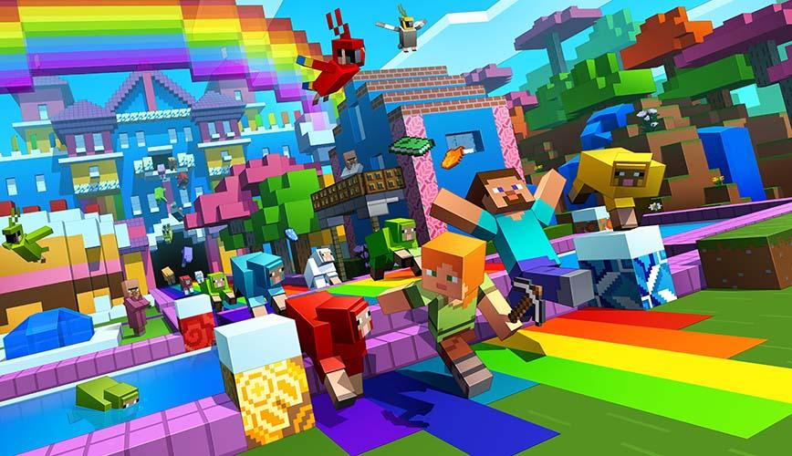 Hình ảnh game Minecraft lung linh rực rỡ sắc màu