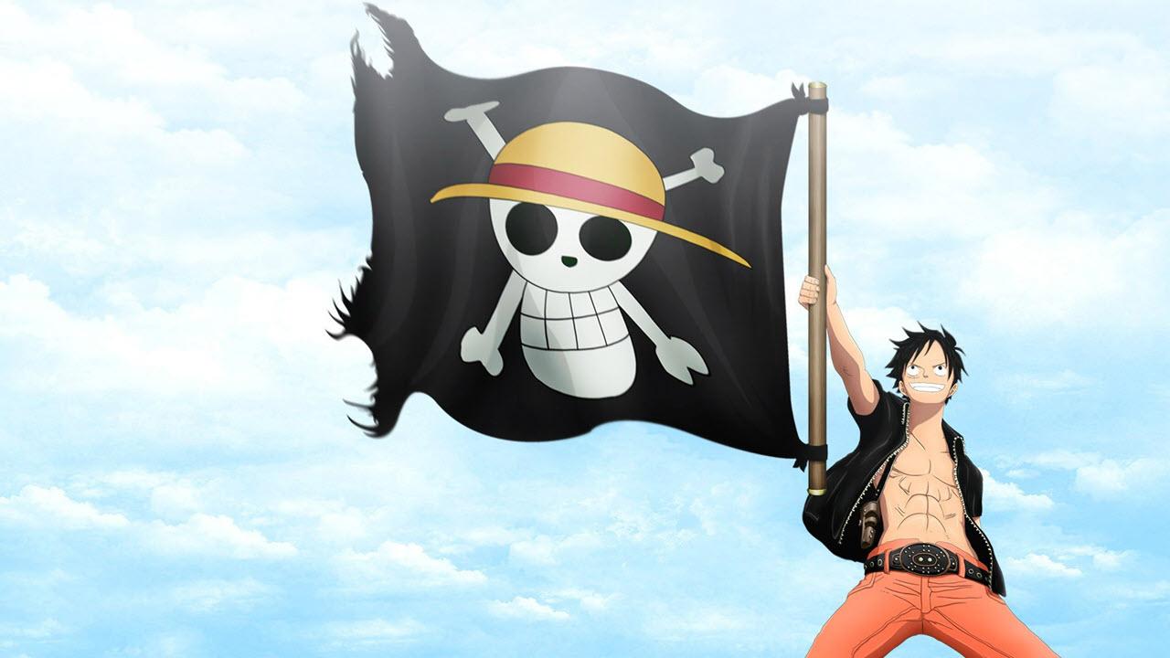 Hình ảnh Luffy cờ hải tặc