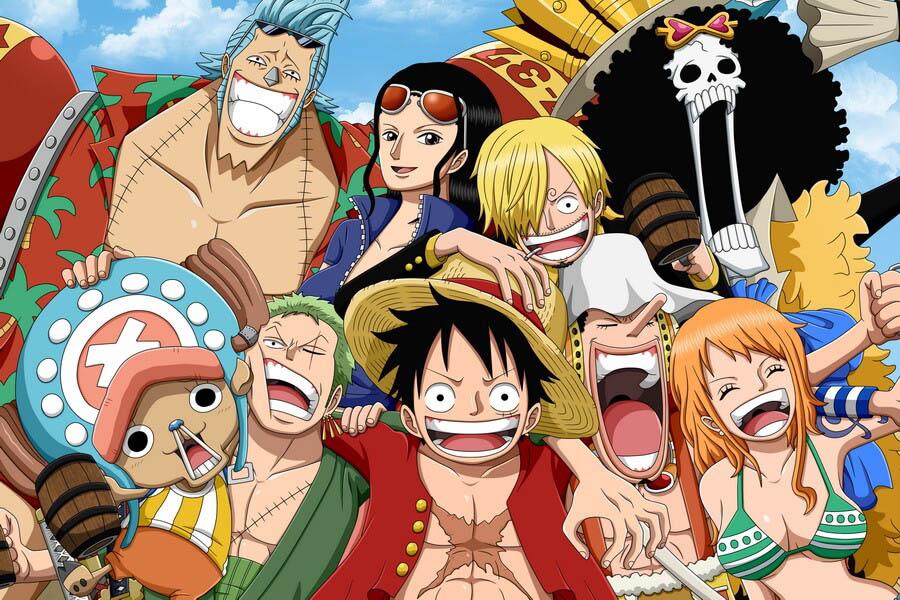 Hình ảnh Luffy cùng đồng đội