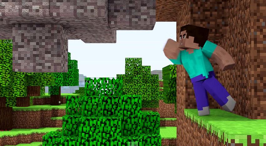 Hình ảnh Minecraft 3D phá trận địa