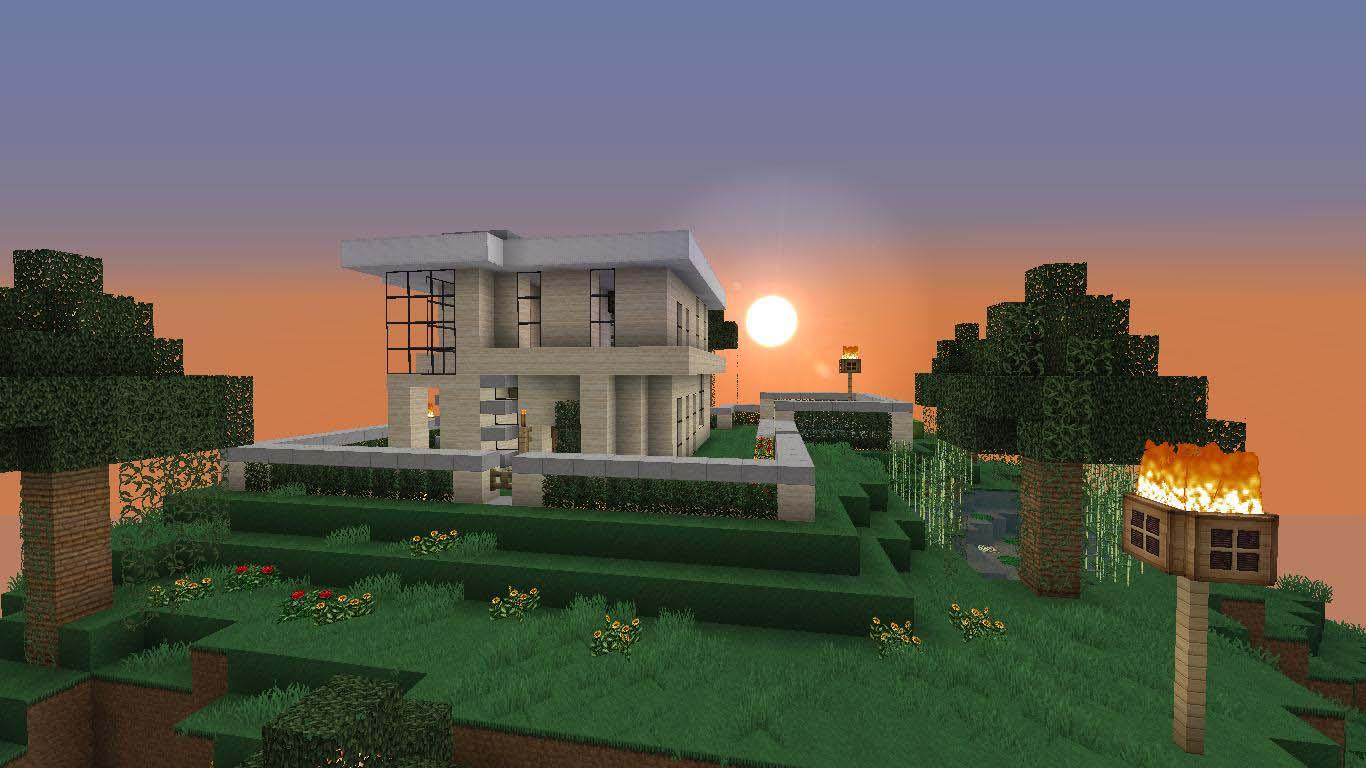 Hình ảnh ngôi nhà minecraft