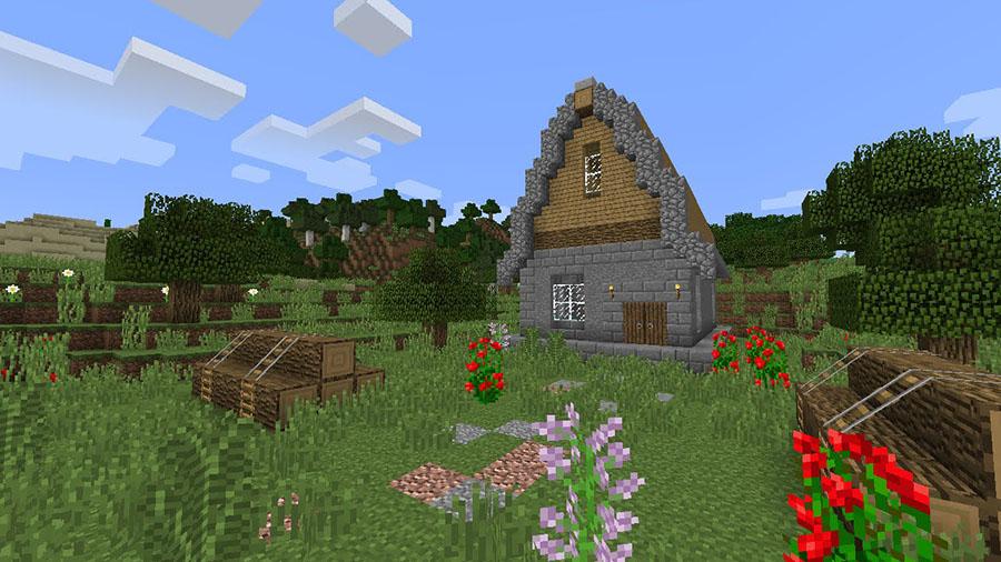 Hình ảnh ngôi nhà trong game Minecraft đẹp và dễ thương