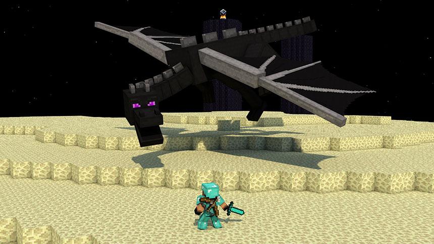 Hình ảnh rồng bay minecraft 3D