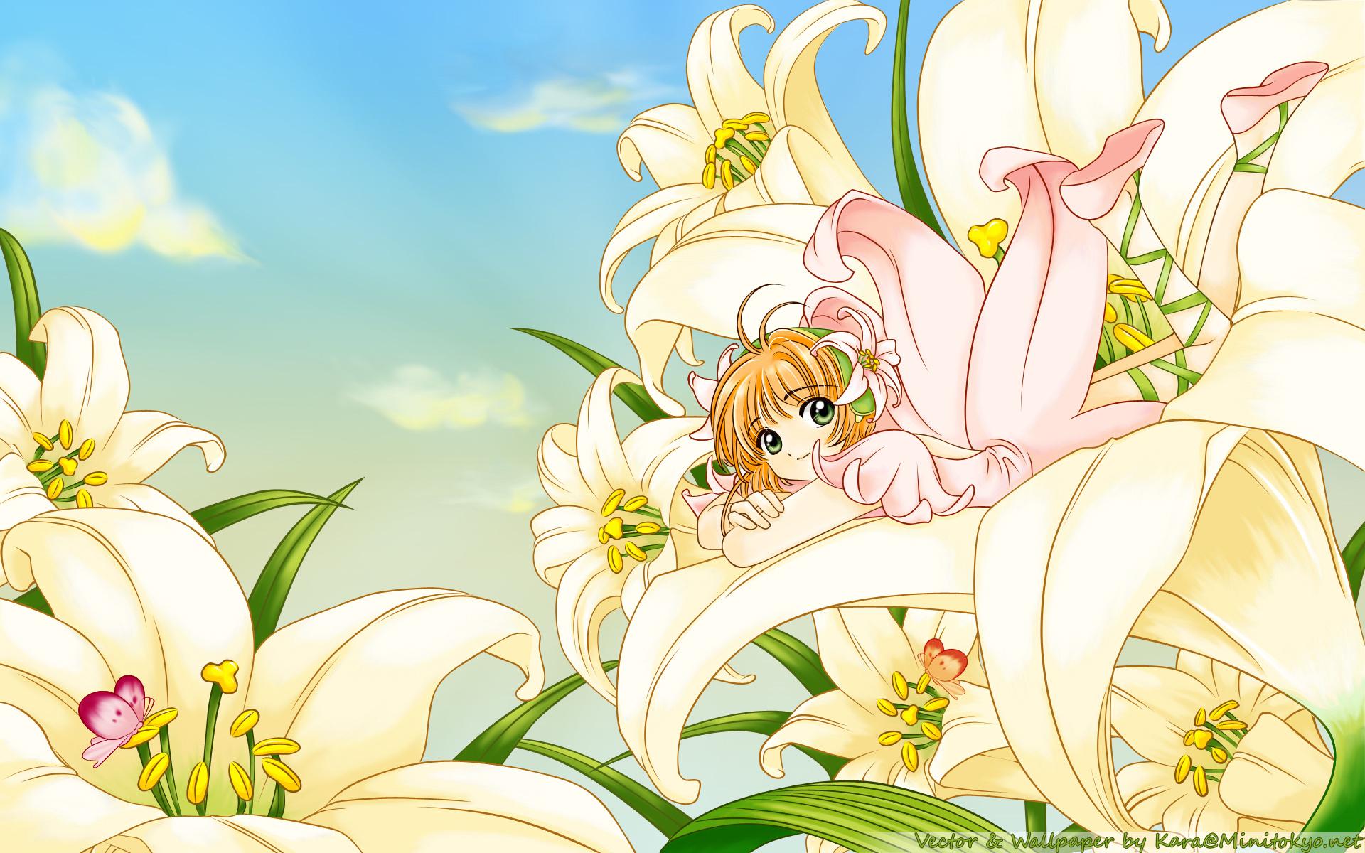 Hình ảnh Sakura e ấp bên hoa ly đẹp nhất