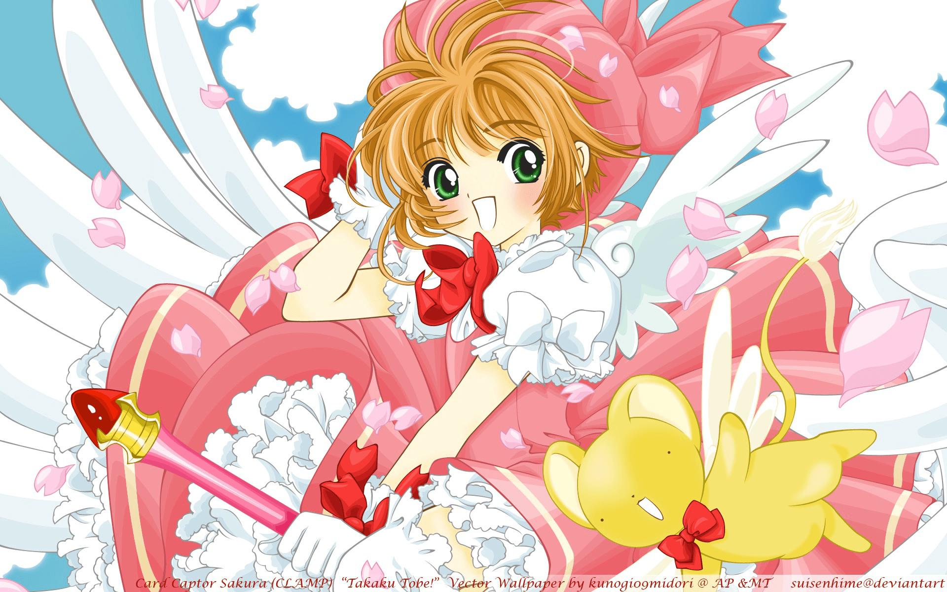 Hình ảnh Sakura với đôi cánh thiên thần đẹp