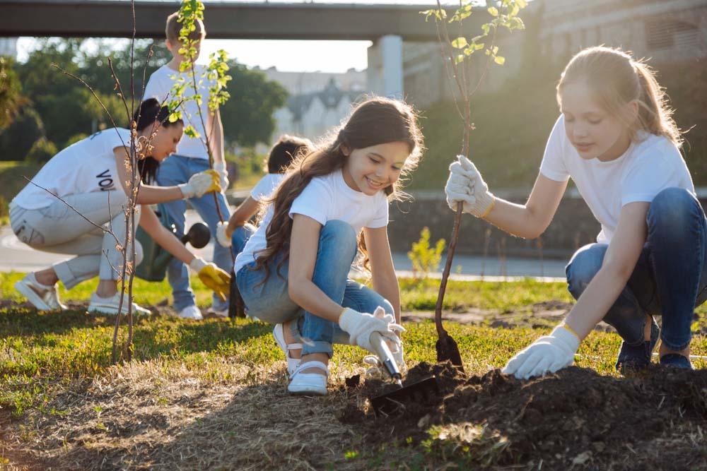 Hình ảnh trẻ em bảo vệ môi trường