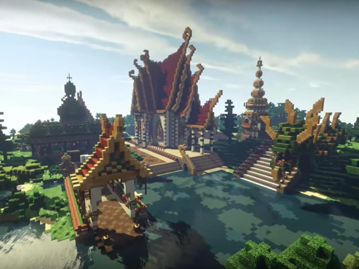 Hình ảnh vương quốc trong minecraft