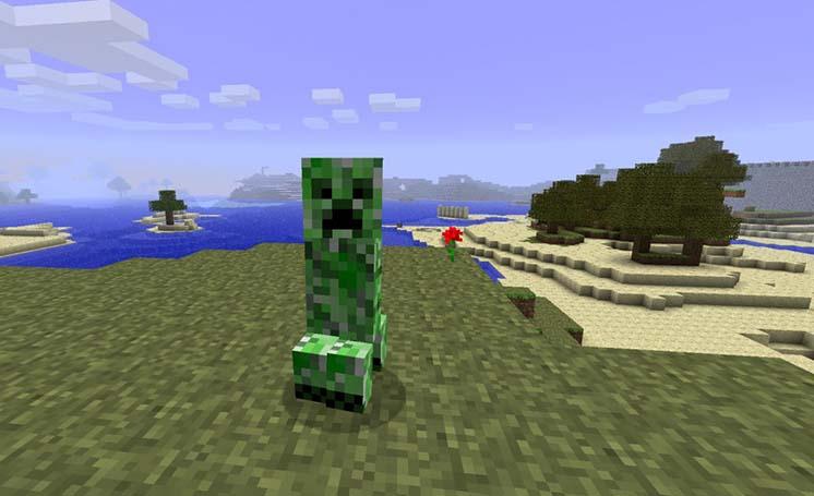 Mô hình trong game minecraft cho màn hình máy tính