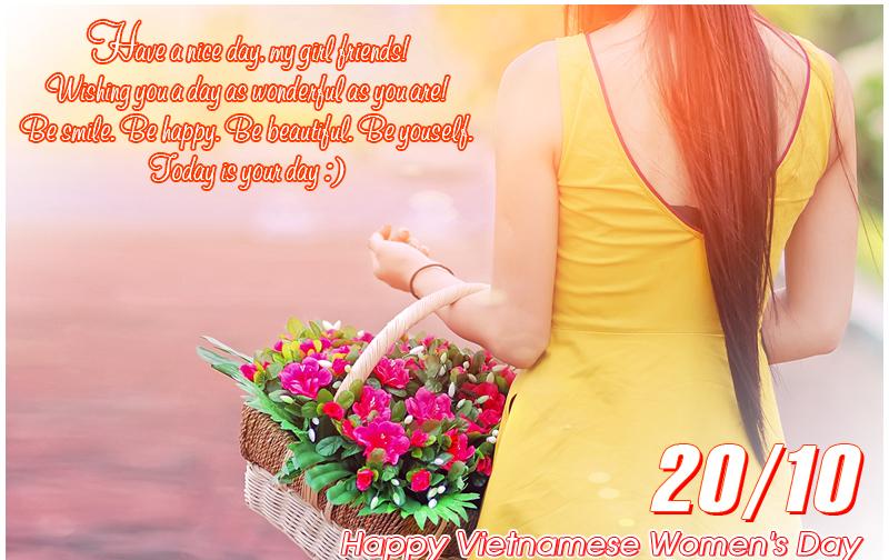 Hình ảnh đẹp về lời chúc mừng ngày phụ nữ việt nam 20-10 bằng tiếng anh hay nhất