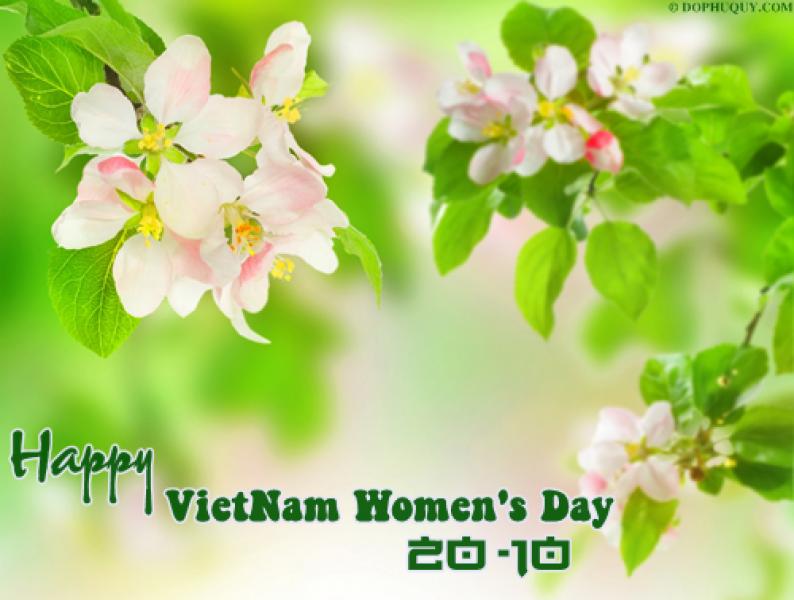 Hình ảnh đơn giản về ngày phụ nữ 20-10 dành tặng người thân